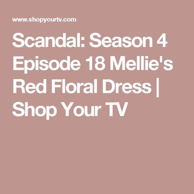 Scandal: Season 4 Episode 18 Mellie's Red Floral Dress | Shop Your TV