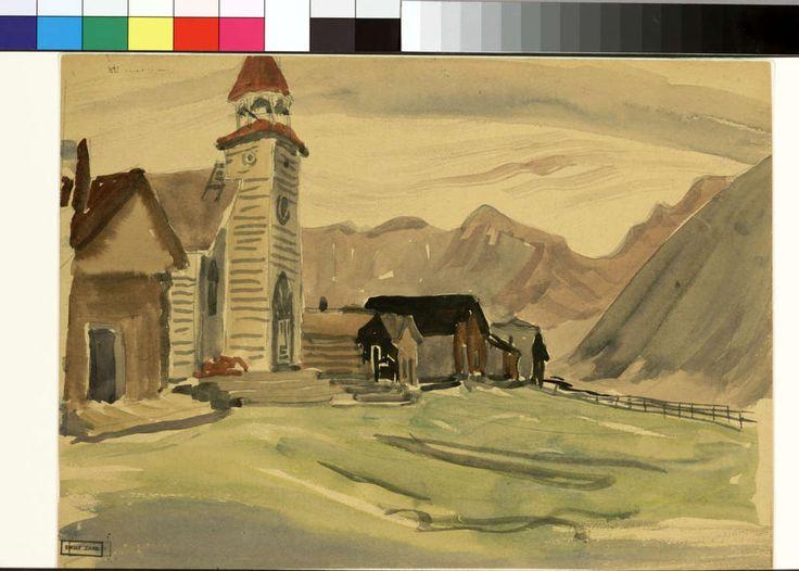 Lillooet, 1933. Emily Carr. Pemberton trip. BC Archives PDP00906