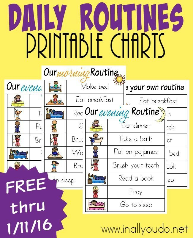 The 25+ best Routine printable ideas on Pinterest | Daily ...