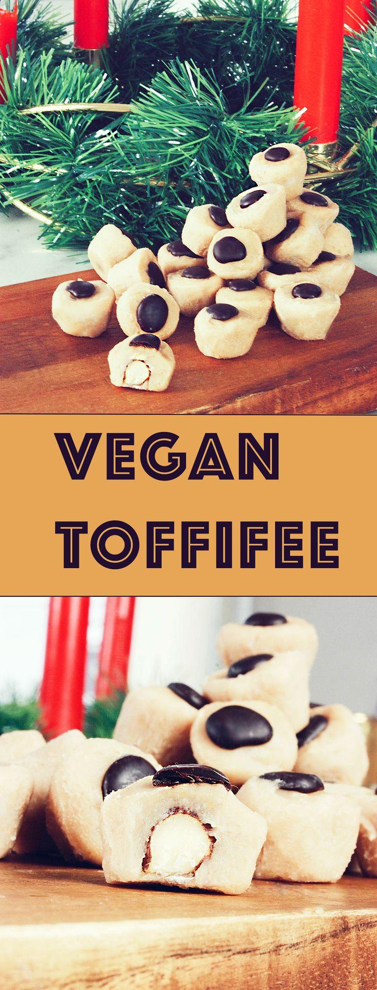 Vegan Toffifee - Gluten free - vegetarian  #recept #julgodis #drömgott #kola #choklad #nötter #hembakat