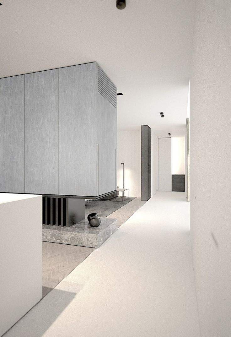 AD office interieurarchitect. Modern living room. Fireplace. Apartment. Minimalist