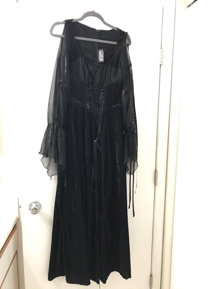 """LIP SERVICE Hot Topic """"Velvet & Gauze"""" long dress #13-98-HT"""