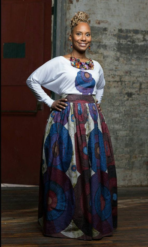 Blue Belle Maxi African Print Skirt by LiLiCreations on Etsy ~Latest African…