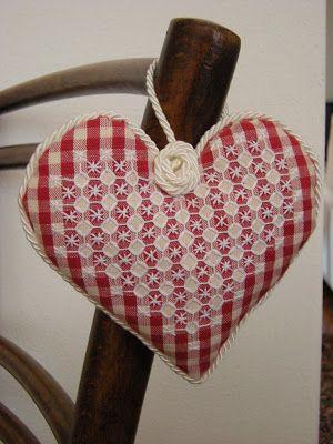 chicken scratch red heart