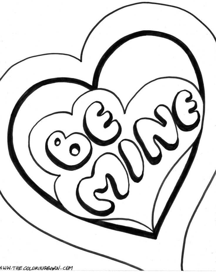 Marvelous Coloring Pages Of Valentines Day