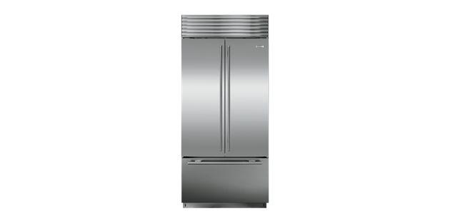 "Sub Zero 36"" BI-36UFD French Door Refrigerator   Dimensions 84"" x 36"" x 24""   Total Capcity 21 cu ft   about $9,750"