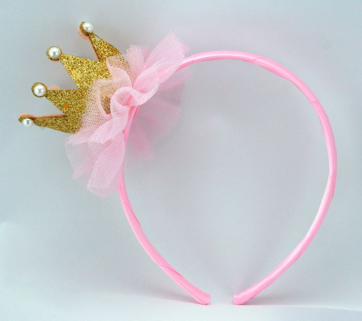 Pink Princess Headband Tiara/ Crown Headband, Princess Crown, Pink Princess Party Favors, Princess Costume, Girl Headband, Party Favors by MyPartyStory on Etsy https://www.etsy.com/listing/205697529/pink-princess-headband-tiara-crown