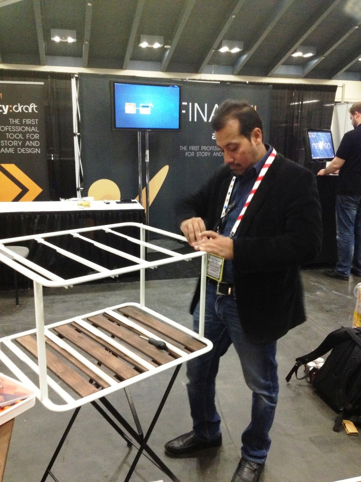 CEO Siddhartha at work!, game developers conference, gdc 2013