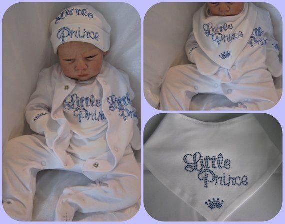 ffbc2d4a8 Newborn or 0-3 months Baby boy royal prince 2013 crystal hat mittens ...