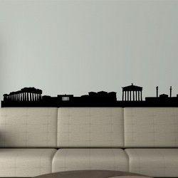 Αθήνα,  Περίγραμμα των σημαντικών κτιρίων, αυτοκόλλητο τοίχου,13,20 €,https://www.stickit.gr/index.php?id_product=649&controller=product
