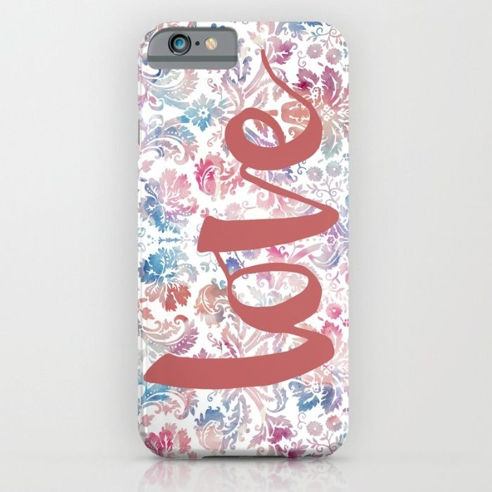 Watercolor Demask iPhone & iPod Case by The Willow Wood Studio   Society6