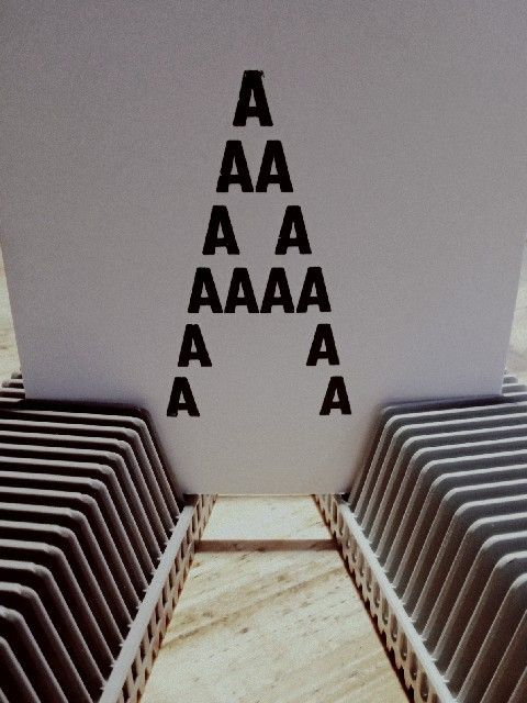 "Letter ""A"" made from Letter""A"""