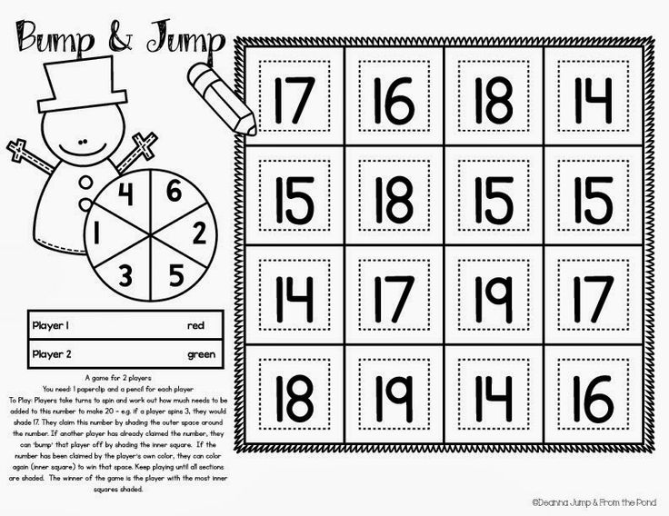 FREE Snowman Bump and Jump Worksheet - Addition Print and Play!