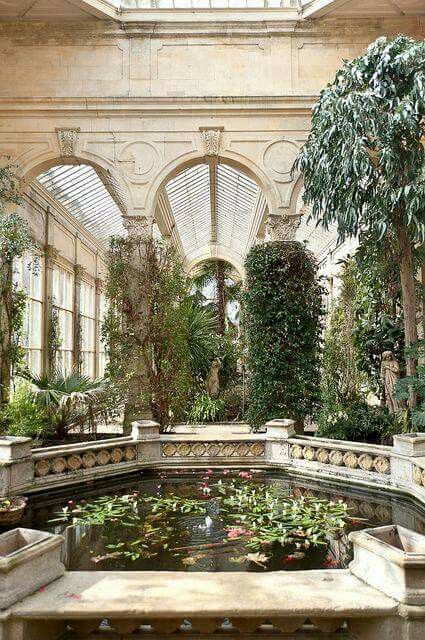 Victorian Greenhouse Castle Ashby, England