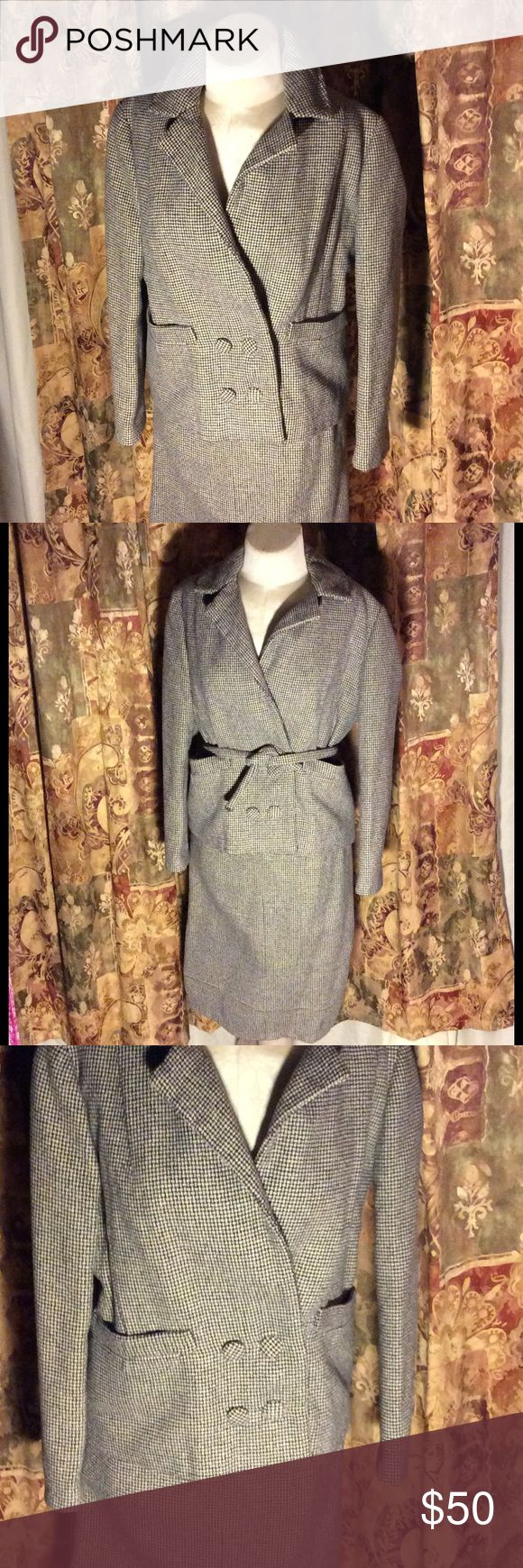 Selling this Vtg checkered wool suit great details on Poshmark! My username is: patriciamildred. #shopmycloset #poshmark #fashion #shopping #style #forsale #Vintage #Other