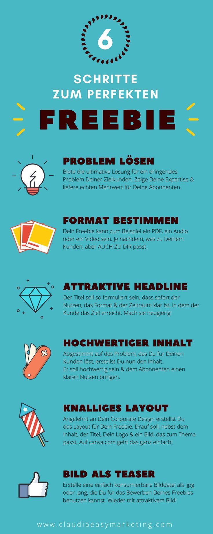 Freebie erstellen – Anleitung und Infografik – Social Media Marketing für Bloggerinnen