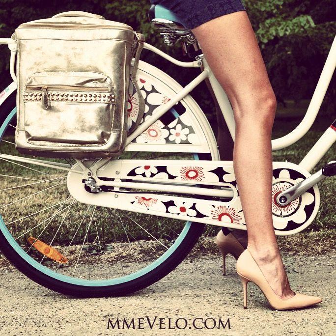 "Bike Bag ""sunshine"" by Madame Velo + electra bike mmevelo.com"
