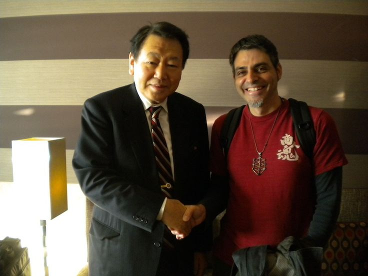 With the Major of Tokyo, in Neuchatel.