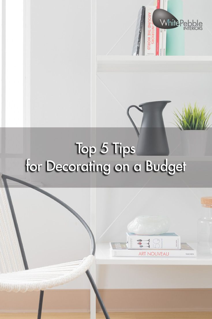 Need a change at home? Here are some cost effective ways to decorate on a budget.