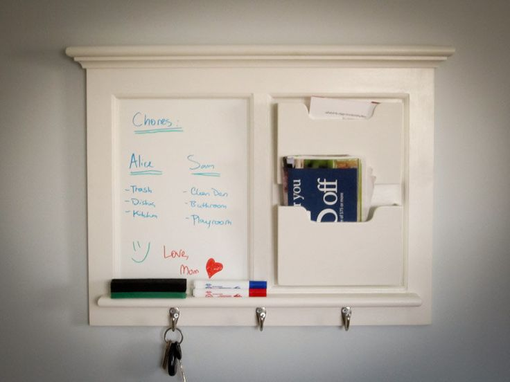 Wall Mail Organizer Whiteboard By Sheldonwoodworks On Etsy