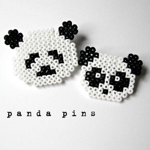 Pandas hama perler beads