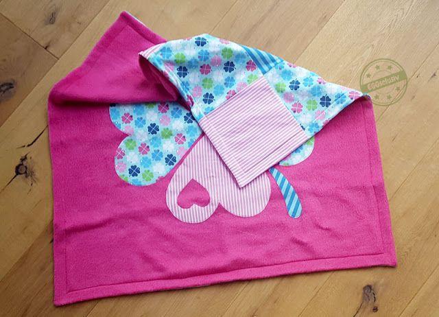 EGGsclsiv: Patchwork-Decke, Babydecke, klimperklein, byGraziela, Glücksklee, Applikation