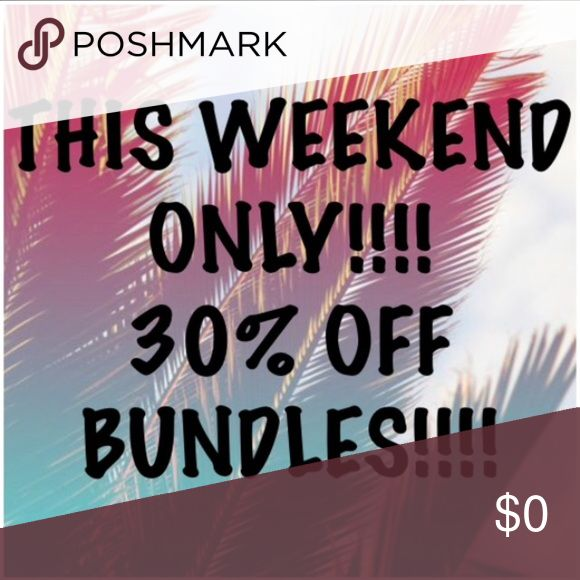 Spotted while shopping on Poshmark: 30% off all bundles this Fri-Sun!