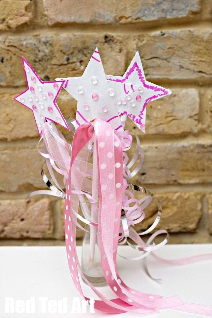 Upcycle take away chop sticks and cereal boxes into magical Princess or Fairy Wands!!