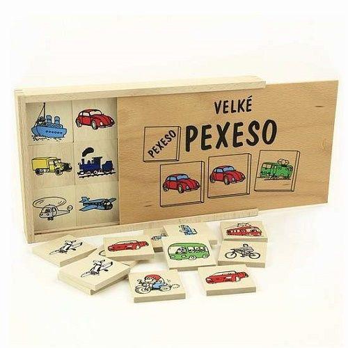 Stolové hry | Pexeso | Drevené pexeso - Dopravné prostriedky (s vekom) | www.mileobchod.sk
