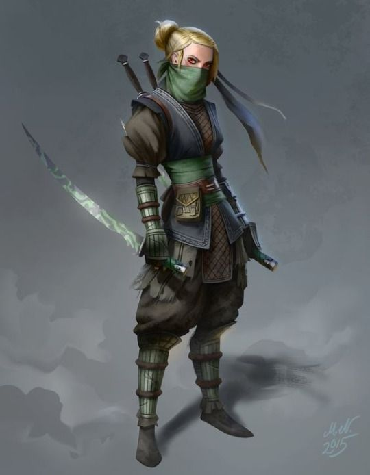 "intelligencecheck: "" Art by: Magnus Norén Name: Natalia Reed Race: Human Gender: Female Height: 5ft 7′ / 1.7m Age: 27 Class: Rogue (Assassin) STAT BLOCK: Level: 7 AC 17 (Studded leather and Ring of..."