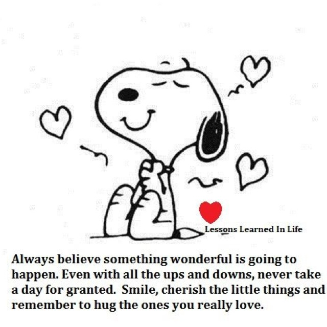 """Always believe..   I <3 Snoopy and have """"Believe"""" tattooed on my belly!"""