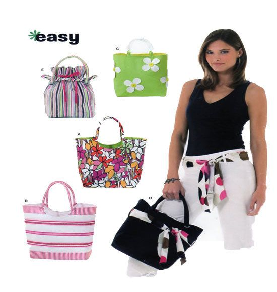 New Look 6467 Handbags Purses Slings and Sash Fashion Accessories Sewing Pattern Easy To Make by FindCraftyPatterns on Etsy