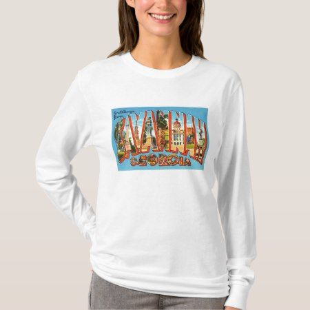 Savannah Georgia GA Old Vintage Travel Souvenir T-Shirt - click to get yours right now!