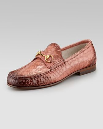 Crocodile Horsebit Loafer by Gucci at Neiman Marcus.