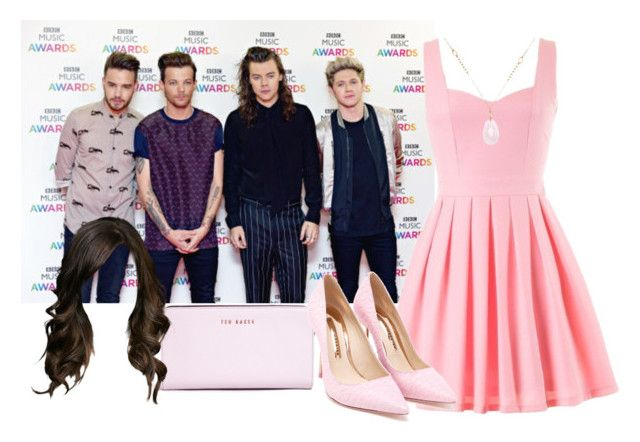 """""""BBC Music Awards 2015 with One Direction (Harry's wife)"""" by suravidas ❤ liked on Polyvore featuring White House Black Market, Ted Baker and Sophia Webster"""