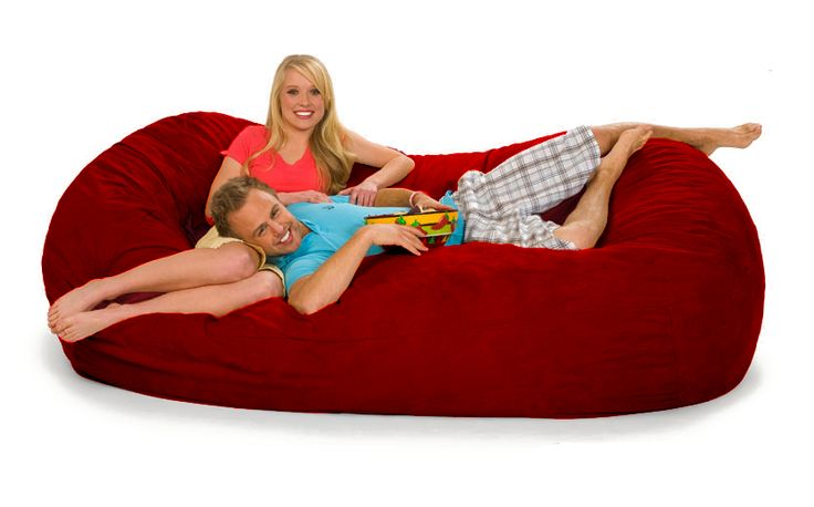 7.5 ft Oval Red Bean Bag Chair