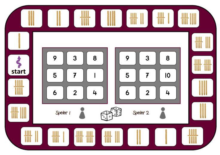 spelbord getallen turven