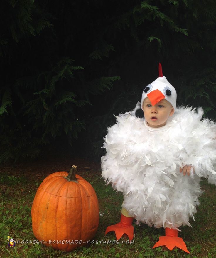 Cutest Baby Chicken Costume Ever... Coolest Homemade Costumes