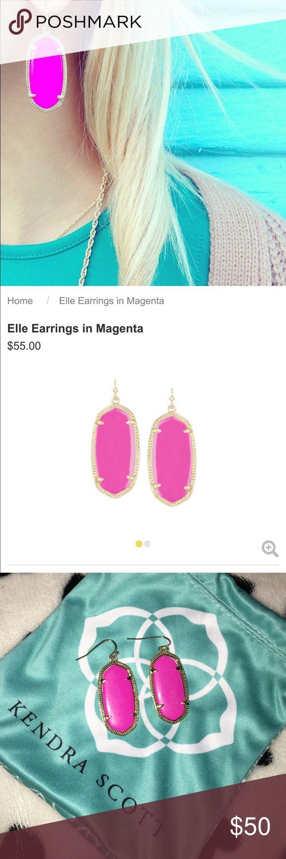 ✨HOST PICK✨ Kendra Scott Elle earrings Grat condition. Comes with bag Kendra Scott Jewelry Earrings
