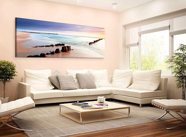 Obraz na ścianę z widokiem dzikiej plaży. Piękna fotografia Morza Bałtyckiego, ukoi Cię po ciężkim dniu #rose #blue #serenity #pantone #2016 #coloroftheyear