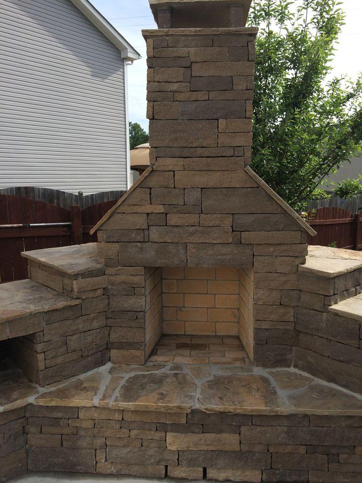 hillcrest sable fireplace exterior stone - Exterior Stone Veneer
