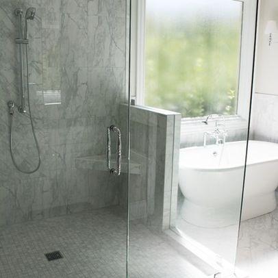 Carrara porcelain tile daltile fl06 bathroom for Daltile bathroom tile designs