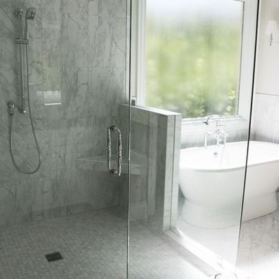 Carrara porcelain tile daltile fl06 bathroom for Daltile bathroom ideas