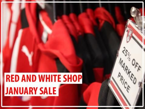 SHOP | Rotherham United  Red and White Shop January sale