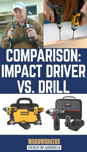 Impact Driver vs drill; what's the diff? Let's sort out the differences between traditional cordless drills and impact drivers, so that woodworkers everywhere can prepare for this potential dialog in their own home.