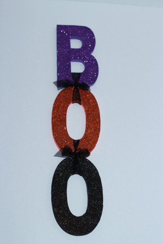 Hanging Halloween BOO Sign by Bubzies on Etsy, $40.00