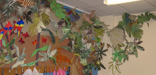 Rainforest crafts for the classroom.