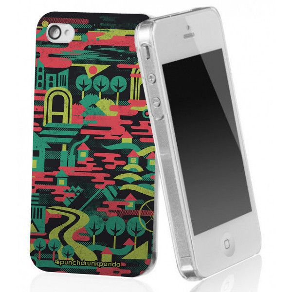 Colorful City iPhone Case (design by Punchdrunk Panda) #punchdrunkpanda #iphone #graphicdesign #design