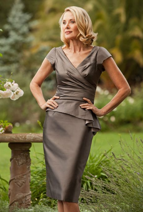 Siri - 9212 Dietrich Top with 9620 Classic Skirt  - Mother of the Bride Dress