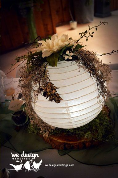 Final paper lantern centerpiece